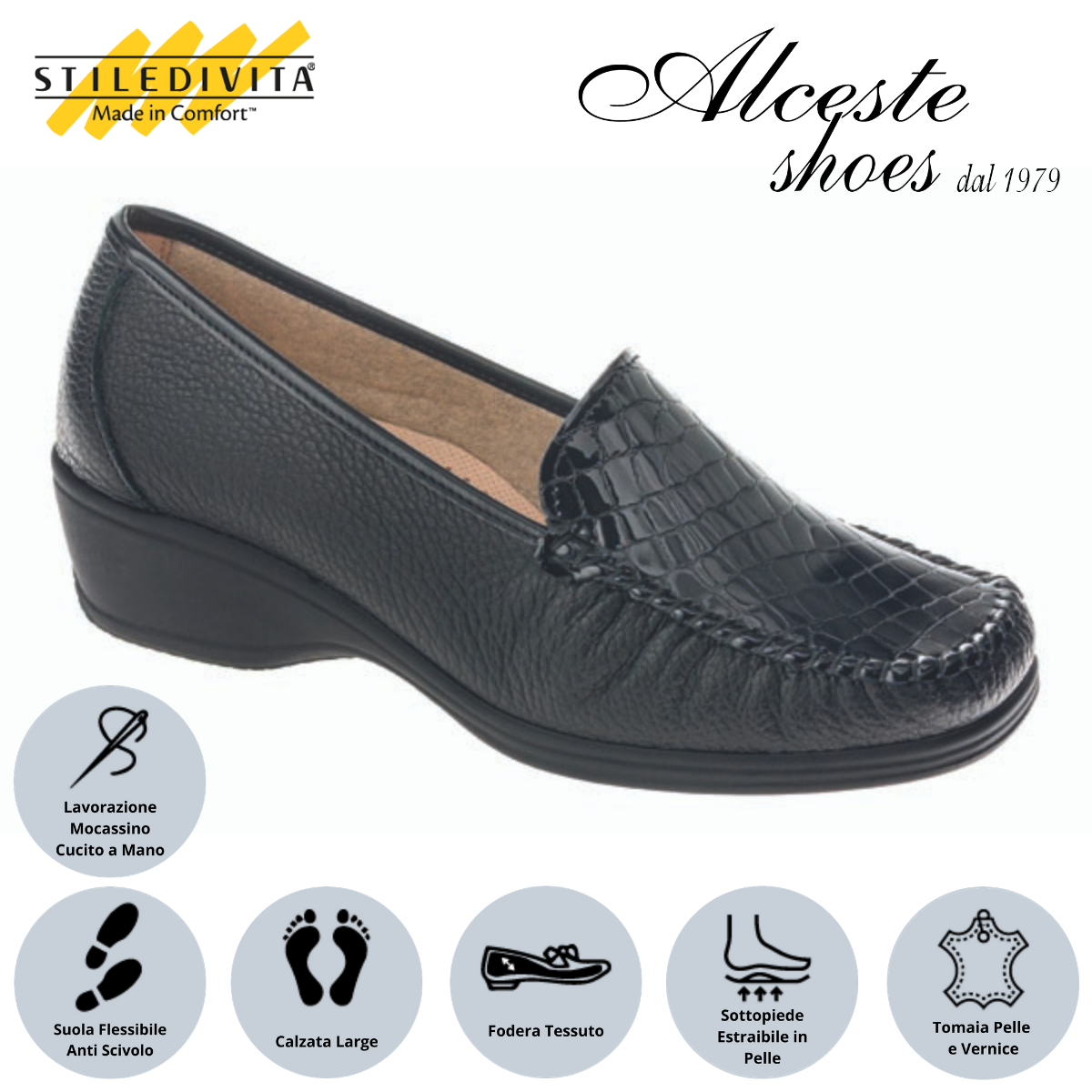 Mocassino Stiledivita art. 2377 nero