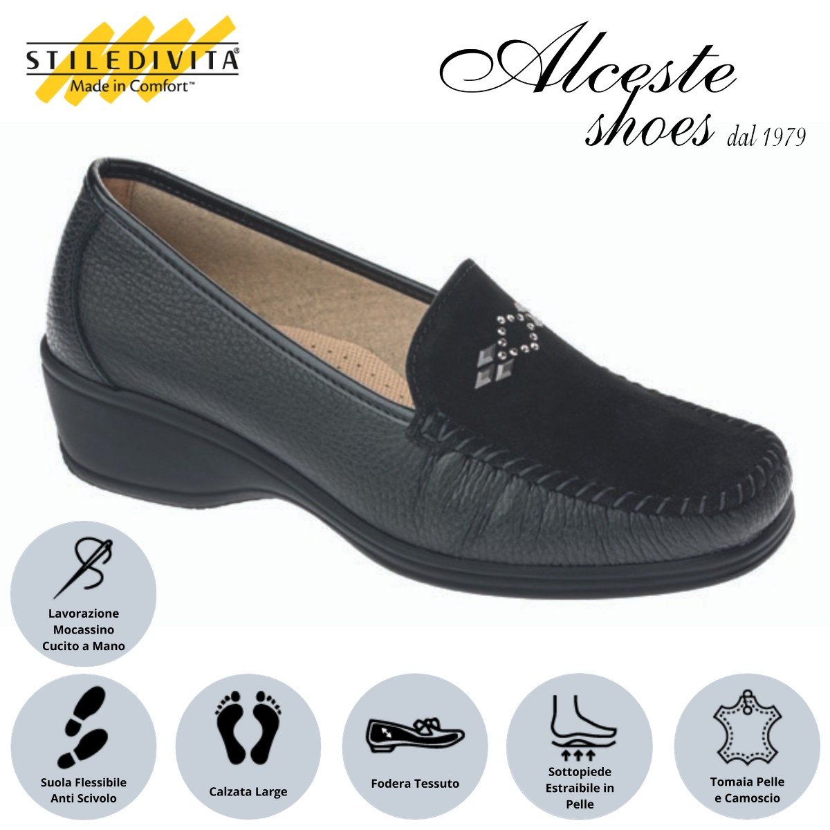 Mocassino Stiledivita art. 7475 nero