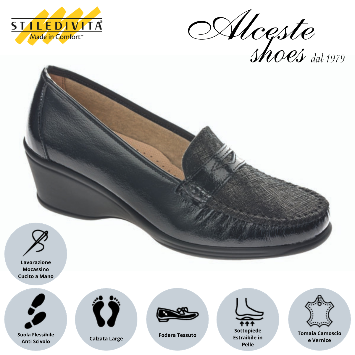 Mocassino Stiledivita art. 2584 nero