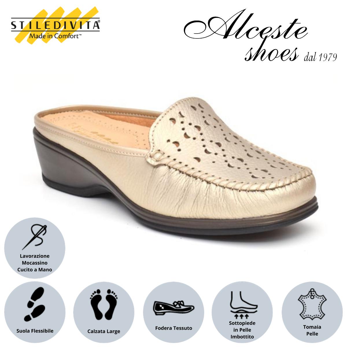 Sabò Traforato Stiledivita Art. 7373 Pelle Pietra Alceste Shoes 15 1