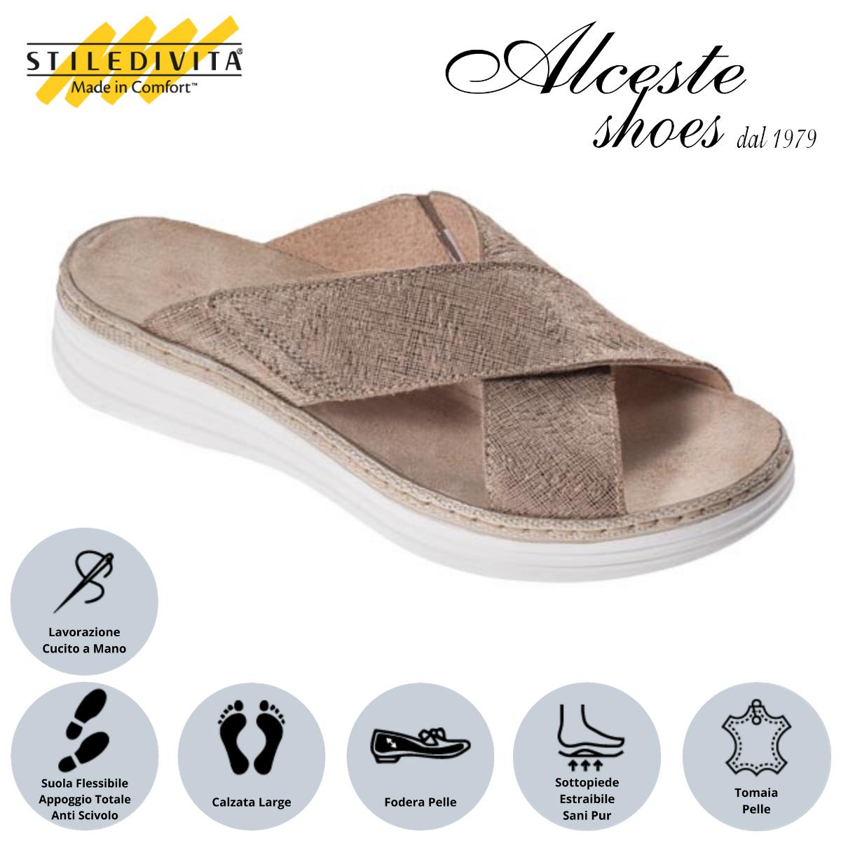 Ciabatta Stiledivita Art. 8388 Camoscio Stampato Corda Alceste Shoes 16