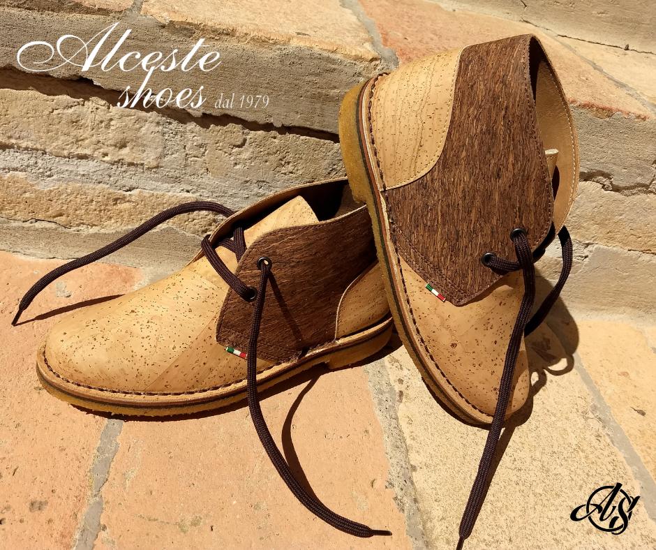 Polacchino Donna Artigianale in Sughero Beige e Marrone Alceste Shoes 2 2