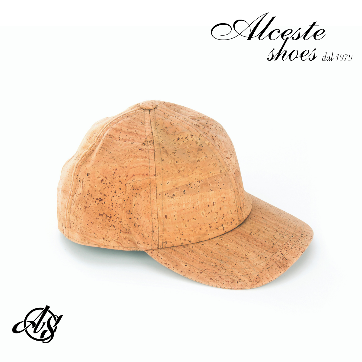 Cappello con Visiera in Sughero Beige 100% Vegan Alceste Shoes 27