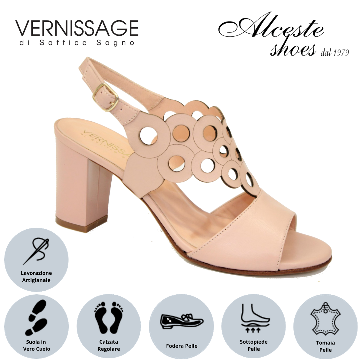 "Sandalo Cerimonia ""Soffice Sogno"" Art. 20132 Pelle Cipria Alceste Shoes 7 2"